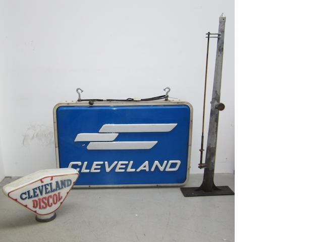 A large Cleveland illuminated sign,