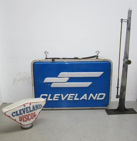 A large Cleveland illuminated sign,