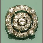 A diamond set cluster brooch
