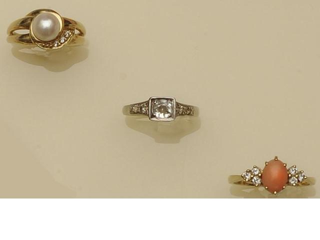 A collection of three dress rings (3)