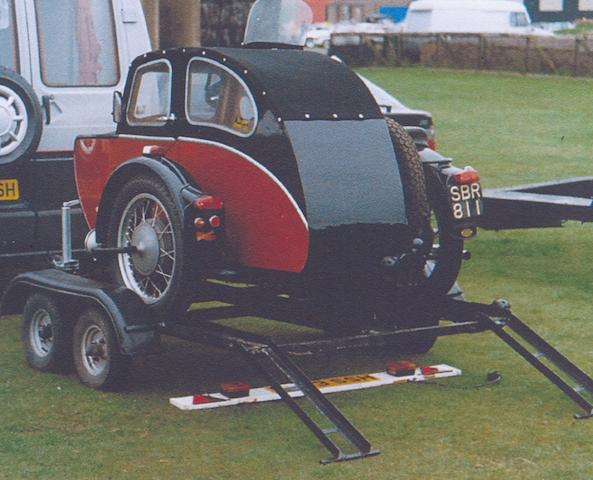 A Dave Cooper motorcycle trailer,