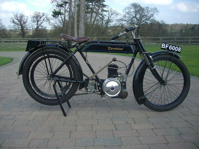 1923 Excelsior 147cc Junior Frame no. 8518 Engine no. H4327