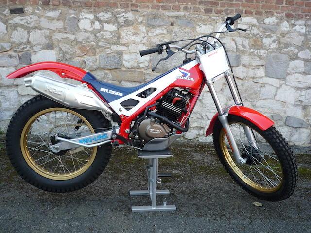 1985 Honda RTL250S Trials Motorcycle Frame no. RTL250SF-5593 Engine no. RTL250E-0005695