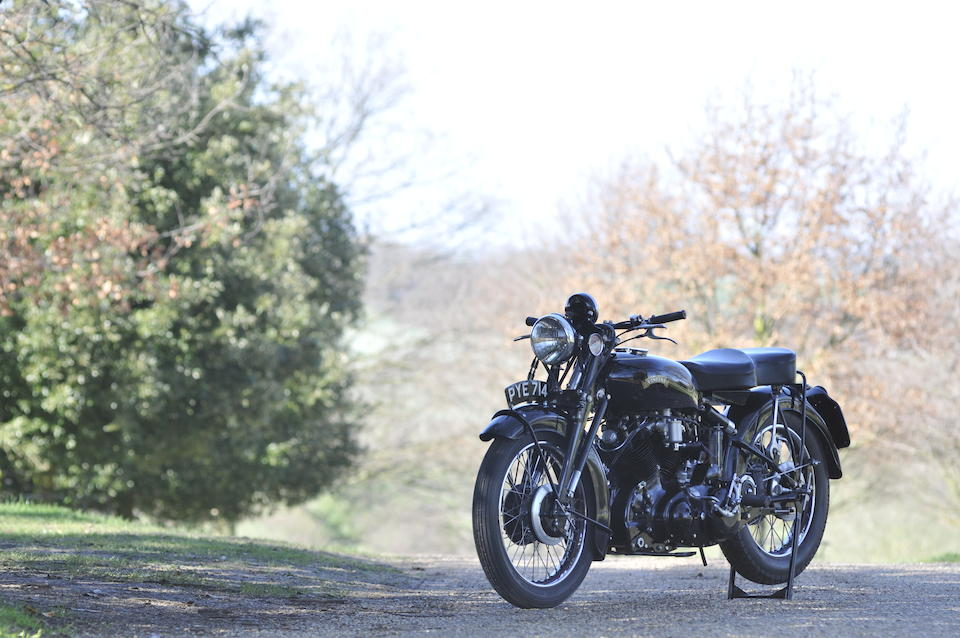 Last off the production line,1955 Vincent 998cc Black Shadow Series C Frame no. RC12571B Engine no. F10AB/1B/10671