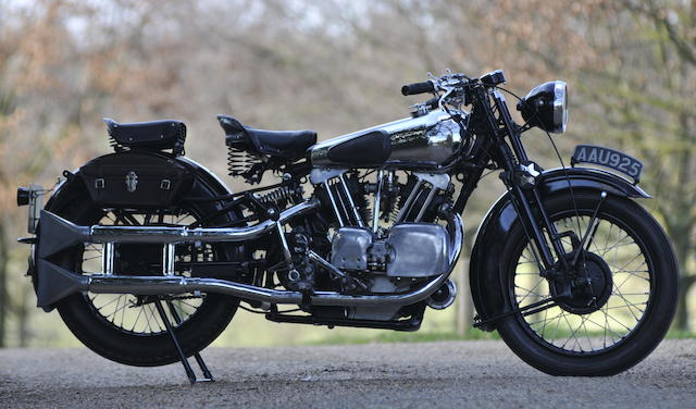 The ex-Murray Motorcycle Museum,1934 Brough Superior 996cc SS100 Frame no. 1057 Engine no. JTOR/D 39150