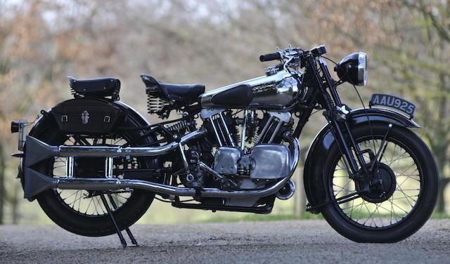 The ex-Murray Motorcycle Museum,1934 Brough Superior 996cc SS100 Frame no. 1057 Engine no. JTOR/D 39150