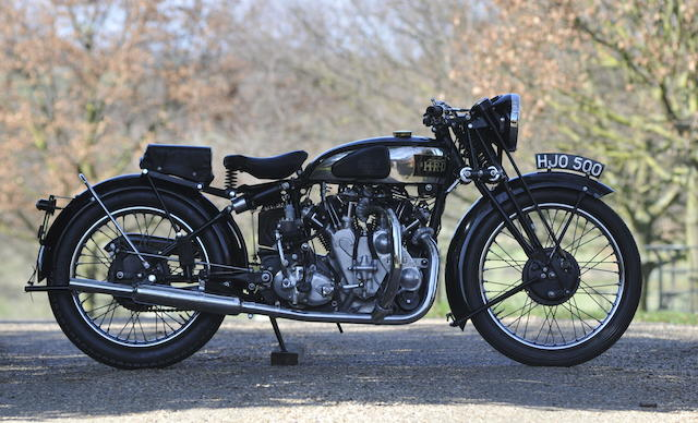 The ex-Brian Verrall,1939 Vincent-HRD 998cc Series-A Rapide Frame no. DV1753 Engine no. V1070