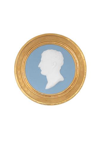A Sèvres circular portrait plaque of Napoleon, circa 1808