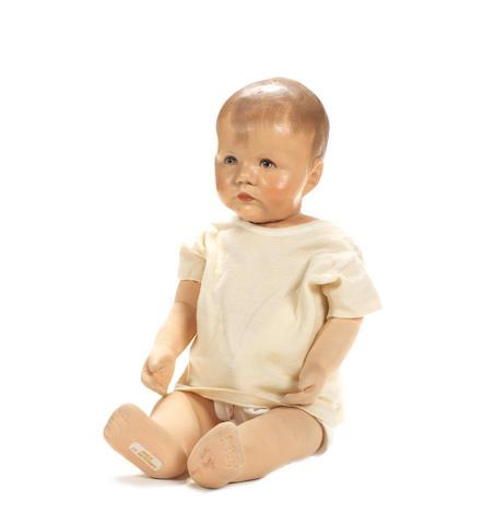 Kathe Kruse 'Du Mein' sand baby in original box, circa 1930