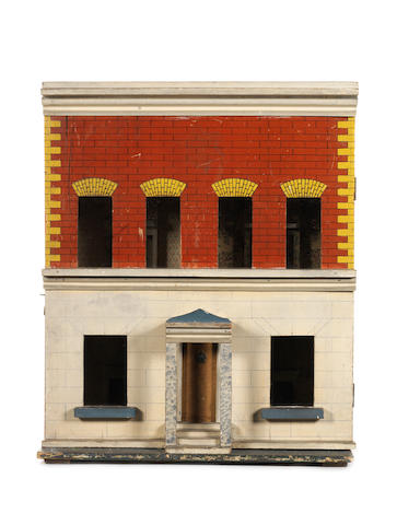 Silber & Fleming painted wooden dolls house, circa 1890