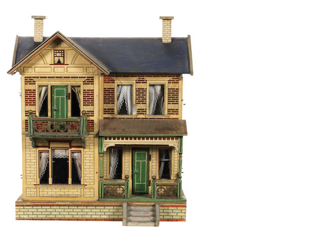 Moritz Gottschalk No:3583 blue roof dolls house