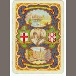 """The Prince and Princess of Wales's visit to India"", a pack of playing cards by The Worshipful Company of Playing Card Makers, 1906,"