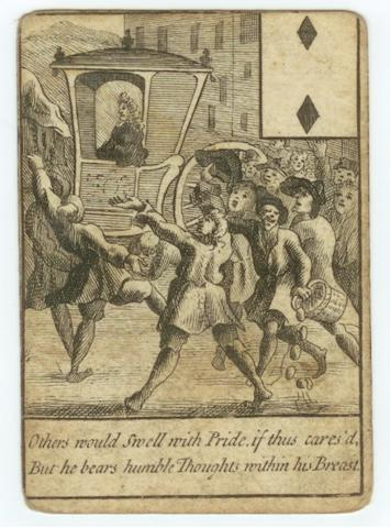 The Trial of Dr Henry Sacheverell, a part-pack of 24 playing cards, circa 1711,