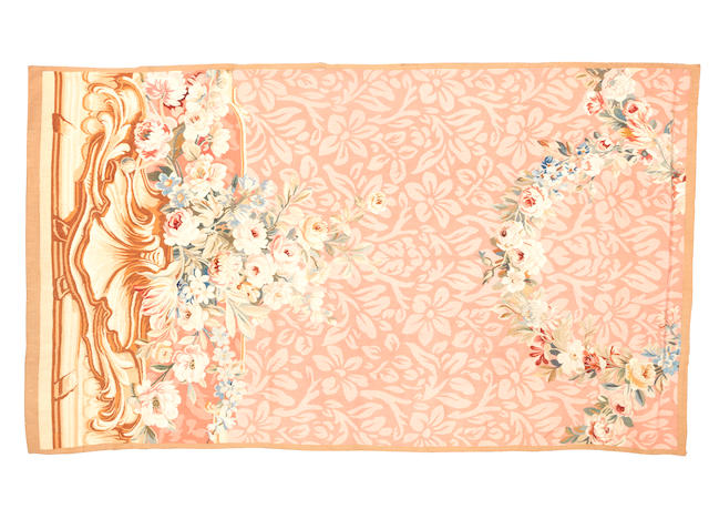 A 19th century Aubusson entre fenêtre France, 216cm x 125cm