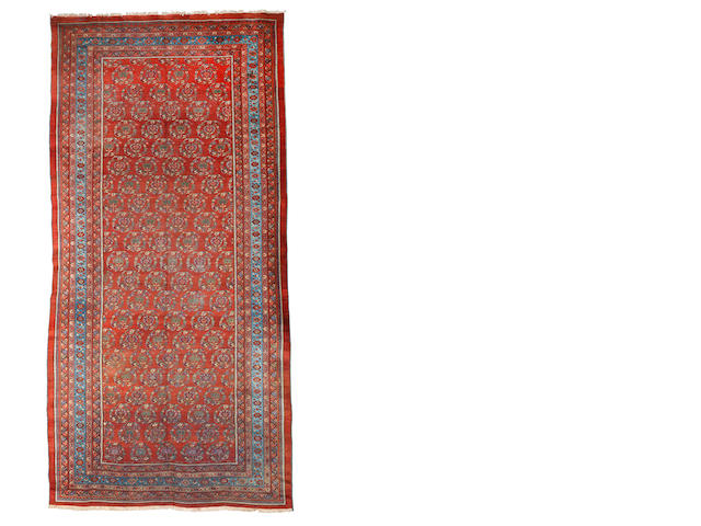 A Bakshaish carpet, North West Persia, circa 1890, 14 ft 6 in x 7 ft (442 x 213 cm) some wear, areas of repiling