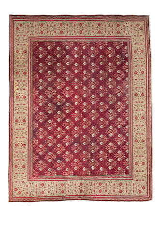 An Agra carpet, North India, circa 1890, 10 ft 6 ft x 13 ft 9 in (419 x 321 cm) some restoration