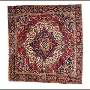 A Bakhtiar carpet of unusual size, West Persia, circa 1930, 11 ft 10 in x 12 ft 2 in (362 x 372 cm)