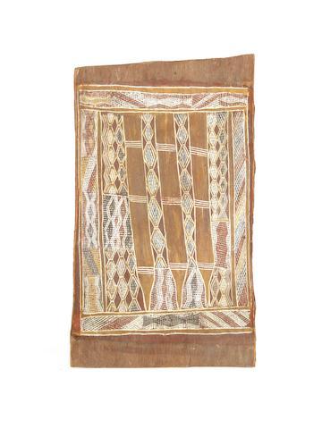 Birrikidji Gumana (circa 1898-1982) Untitled (Honey and Flood Water Designs)