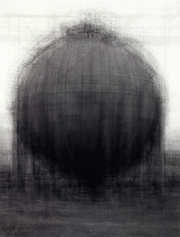 Idris Khan (British, 1978) Every...Bernd and Hilla Becher spherical gasholders, 2004