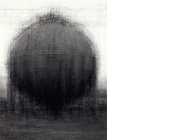 Idris Khan (British, 1978) Every... Bernd and Hilla Becher spherical type gasholders, 2004 Sight area 62 x 47.5cm (24 7/16 x 18 11/16in).