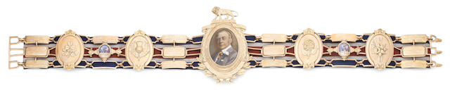 The Gold Heavyweight Lonsdale Belt won by Henry Cooper, 1959 (twice) and 1961,