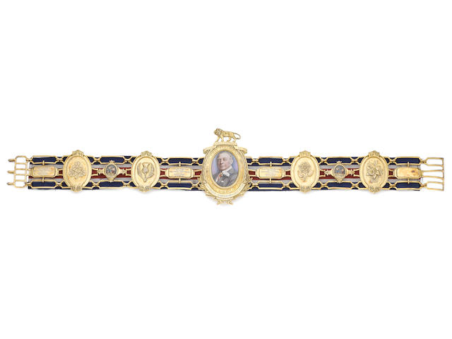 The Silver-gilt Heavyweight Lonsdale Belt won by Henry Cooper, 1965, 1967 (twice),