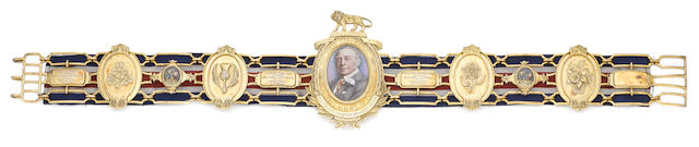 The silver-gilt Heavyweight Lonsdale Belt won by Henry Cooper, 1965, 1967 (twice)