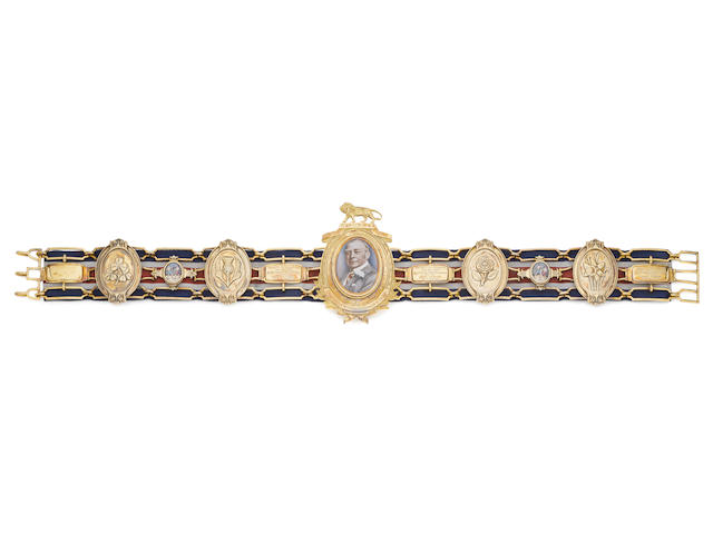 The silver-gilt Heavyweight Lonsdale Belt won by Henry Cooper, 1962, 1963 and 1964