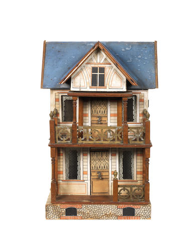 Moritz Gottschalk blue roof dolls house, circa 1910