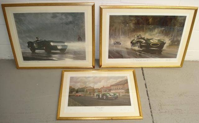 Three prints all relating to Jaguar,