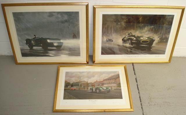 Three prints all relating to Jaguar,