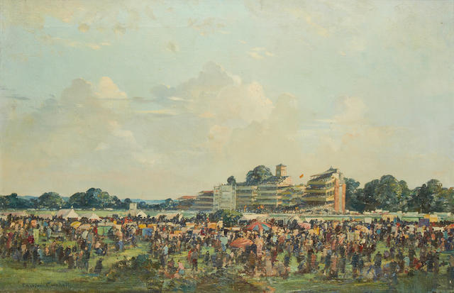 Charles Cundall R.A. (British, 1890-1971) Race day, Ascot