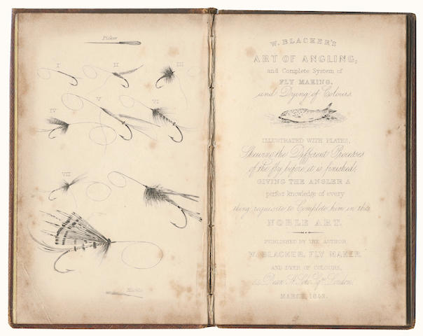 BLACKER (WILLIAM) Art of Angling, and Complete System of Fly Making, and Dying of Colours, FIRST EDITION, FIRST ISSUE, 1842