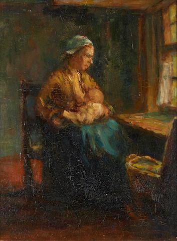 Bernardus Johannes Blommers (Dutch, 1845-1914) Nursing