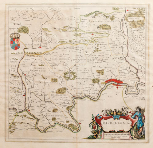 MIDDLESEX BLAEU (JAN and WILLEM) Middle-Sexia, [c.1663]