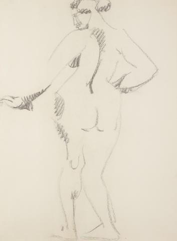 Henri Gaudier-Brzeska (French 1891-1915) Standing female nude, 1913