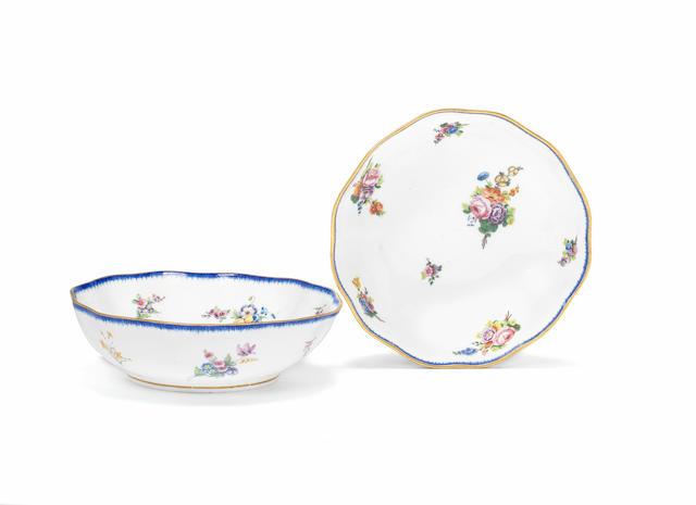 A pair of Sèvres fruit bowls