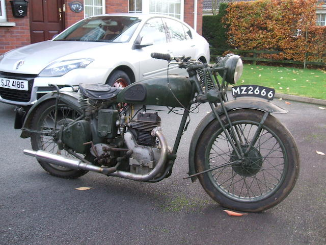 c.1940 Royal Enfield 346cc Model C Frame no. 2063