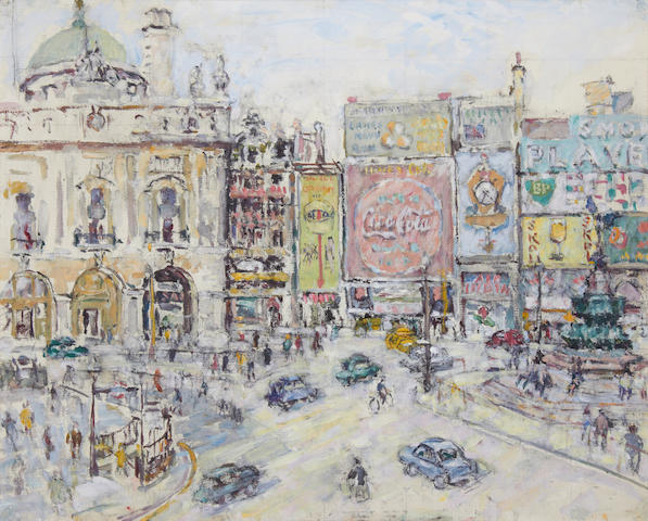 Evelyn Abelson (British, 1886-1967) Piccadilly Circus
