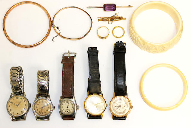 A collection of jewellery and wristwatches,(qty)