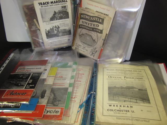 A large collection of programmes 1950's to 1970's many Wrexham