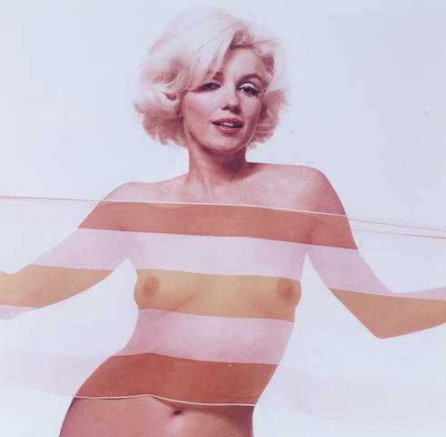 Bert Stern (American, born 1930) Marilyn Monroe, The Last Sitting, 1962 Paper sight area 52 x 50cm (20 1/2 x 19 11/16in), image 48 x 48cm (18 7/8 x 18 7/8in).
