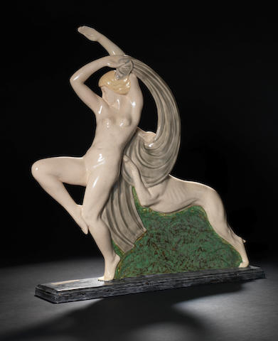 R.Philippe  An Art Deco Ceramic Figural Group, circa 1930