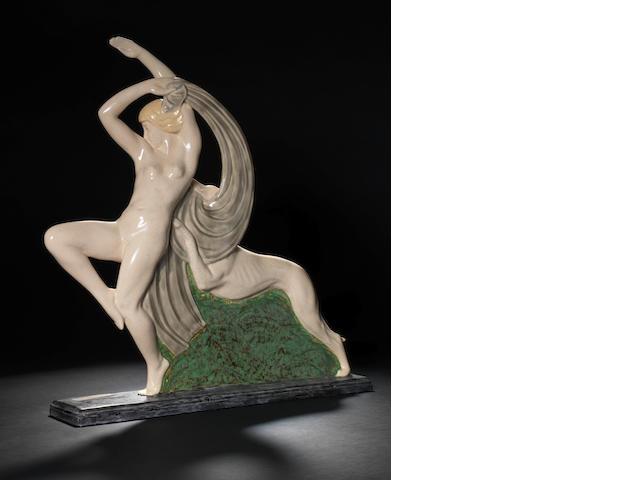 R.Philippe  An Art Deco Ceramic Figural Group, circa 1930