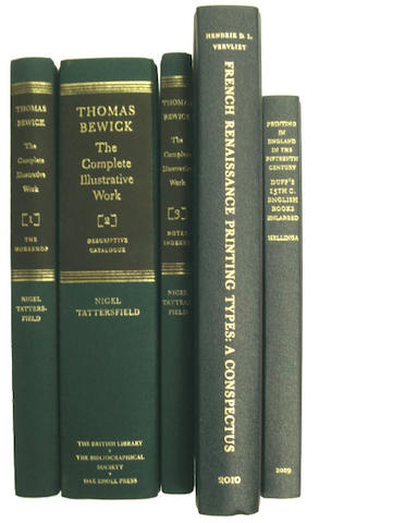 PRINTING TATTERSFIELD (NIGEL) Thomas Bewick: The Complete Illustrative Work, 3 vol., 2011; and 2 others, also on printing (5)