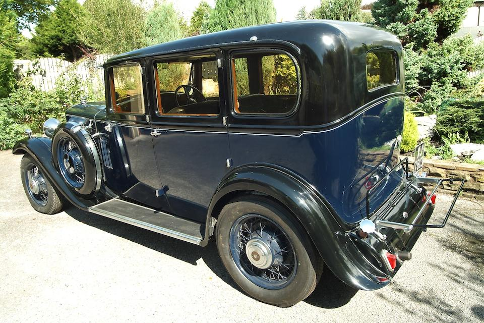 16,878 miles from new,1933 Humber 16/60hp Saloon  Chassis no. 16-2826 Engine no. 2850