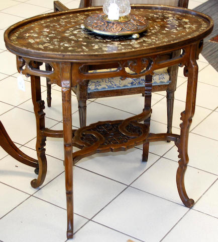 A stylish Edwardian chinoiserie occasional table