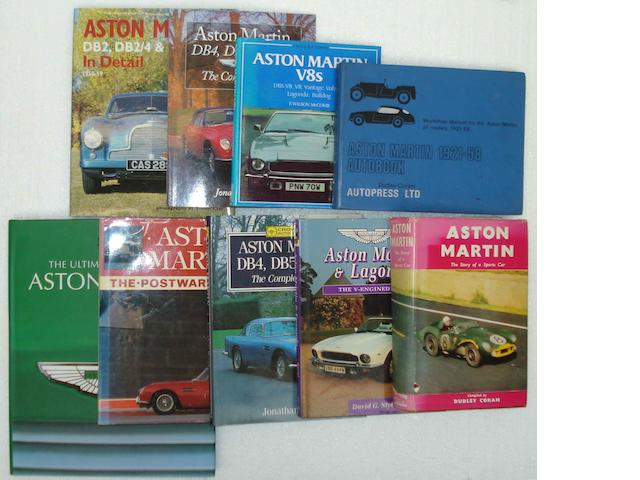 Assorted Aston Martin related books,