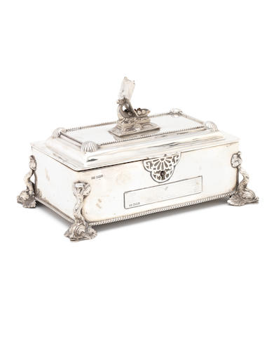 Walker & Hall an Arts & Crafts Style Silver Cigarette Box, 1927