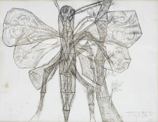 Francis Newton Souza (India, 1924-2002) Untitled (Mosquito),